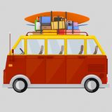 Van with luggage.3D. Van with luggage .3D Stock Photography