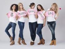 8 van Maart, de dag van Vrouwen Stock Foto's
