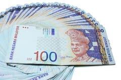 Van Maleisië Rm100- Nota's Royalty-vrije Stock Afbeeldingen
