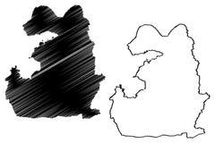 Van map vector. Van Provinces of the Republic of Turkey map vector illustration, scribble sketch Van ili map stock illustration