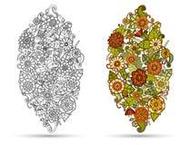Van mehndikrabbels van hennapaisley stammen het ontwerpelement Stock Afbeelding