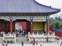 19 van Mei, 2018: De poort van de Zaal van Gebed voor Goede Oogst bij de Tempel van Hemel, Peking, China, Azië Stock Foto