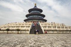 19 van Mei, 2018: De Zaal van Gebed voor Goede Oogst bij de Tempel van Hemel, Peking, China, Azië Stock Fotografie