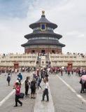19 van Mei, 2018: De Zaal van Gebed voor Goede Oogst bij de Tempel van Hemel, Peking, China, Azië Stock Foto