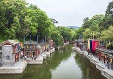 19 van Mei, 2018: Suzhourivier bij het de Zomerpaleis, Peking, China Stock Fotografie