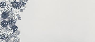 Van metaaltoestellen en tandraderen achtergrond Royalty-vrije Stock Afbeeldingen
