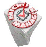 Van micro- Stapel van de de Administratiestapel Manager 3d Woorden Royalty-vrije Stock Foto's