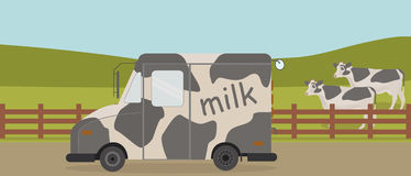 Van milk royalty free illustration