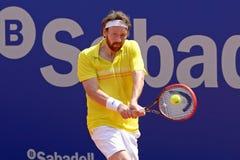 Van Miroslav Mecir (tennisspeler van Slowakije) de spelen bij ATP Barcelona stock foto's