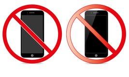 Van Mobiel Teken schakel Telefoonpictogram uit Geen Telefoon Toegestaan Mobiel Waarschuwingssymbool stock illustratie