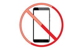Van Mobiel Teken schakel Telefoonpictogram uit Geen Telefoon Toegestaan Mobiel Waarschuwingssymbool vector illustratie