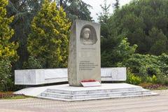 Van monumenten lazarevtsam-helden en slachtoffers Grote Patriottische Oorlog Sotchi, Rusland Royalty-vrije Stock Afbeelding