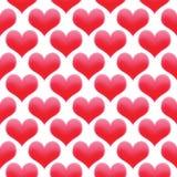 Van naadloos kleurde de de dagachtergrond het patroonvalentine van de hartenillustratie rood royalty-vrije illustratie