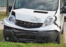 Van nach Verkehrsunfall Lizenzfreies Stockbild