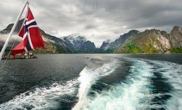 Van nature lofoten-aangedreven royalty-vrije stock afbeeldingen