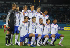 Van Nederland (onder-21) het Nationale team Royalty-vrije Stock Afbeeldingen