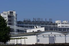 Van Nelle εργοστάσιο στο Ρότερνταμ, οι Κάτω Χώρες στοκ εικόνα με δικαίωμα ελεύθερης χρήσης