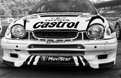 Van nelvecchio van TOYOTA COROLLA WRC 1998 van radunodella van vetturada corsala LEGGENDA 2017 stock fotografie