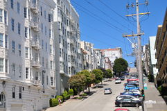 Van Ness Avenue - typical houses in San Francisco Stock Images