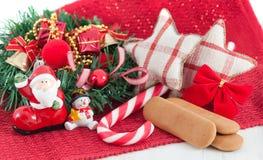 Van nieuwjaardecoratie en koekjes concept Royalty-vrije Stock Afbeelding