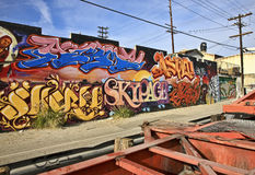 Van Oost- graffiti Los Angeles Royalty-vrije Stock Afbeelding
