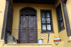 Van ottomanearchitectuur/Odunpazari huizen Royalty-vrije Stock Foto's