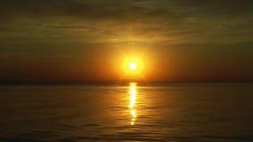 Van overzeese het Landschap van het het Zeegezichtzeewater Zonstralen stock video