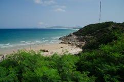Van Phong Bay. Fresh and wild beach in Nha Trang, Vietnam stock image
