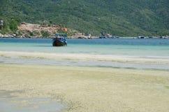 Van Phong Bay. Fresh and wild beach in Nha Trang, Vietnam Royalty Free Stock Photography