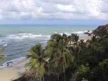 Van Pipastrand en Baia Dos Golfinhos - het Strand van Geboorte, Rio Grande doet Norte, noordoostelijke kust van Brazilië royalty-vrije stock afbeelding