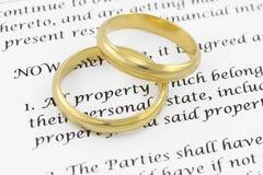 Van Prenuptial (de voorhuwelijkse) overeenkomst royalty-vrije stock foto's