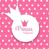 Van prinsesCrown Vectorillustratie Als achtergrond Royalty-vrije Stock Fotografie