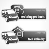 Van promotion banner Royalty Free Stock Images