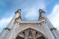 Van Qolsharif (Qol-Sheriff, Kol Sharif) de moskee in Kazan Rusland stock foto's
