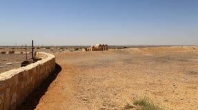 Van Quseir (Qasr) Amra de woestijnkasteel dichtbij Amman, Jordanië Royalty-vrije Stock Foto's
