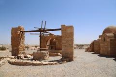 Van Quseir (Qasr) Amra de woestijnkasteel dichtbij Amman, Jordanië Stock Fotografie