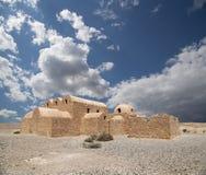 Van Quseir (Qasr) Amra de woestijnkasteel dichtbij Amman, Jordanië Royalty-vrije Stock Afbeelding
