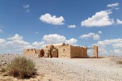Van Quseir (Qasr) Amra de woestijnkasteel dichtbij Amman, Jordanië Royalty-vrije Stock Foto