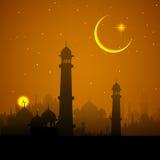 Van Ramadan Kareem (Grootmoedige Ramadan) de achtergrond Royalty-vrije Stock Afbeelding