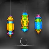 Van Ramadan Kareem (Grootmoedige Ramadan) de achtergrond Royalty-vrije Stock Foto's