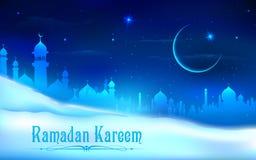 Van Ramadan Kareem (Grootmoedige Ramadan) de achtergrond Stock Afbeelding