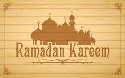 Van Ramadan Kareem (Grootmoedige Ramadan) de achtergrond Stock Fotografie