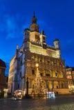 Van renaissancestadhuis en Kerstmis decoratie royalty-vrije stock afbeelding