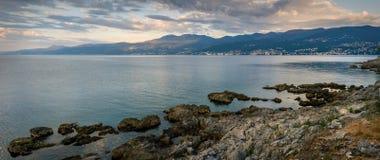 Van Rijeka aan Opatija Stock Foto's