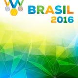 Van Rio DE janeiro 2016 Brazilië vectorillustratie als achtergrond Stock Afbeeldingen