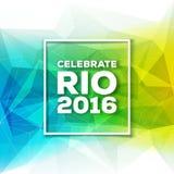 Van Rio DE janeiro 2016 Brazilië vectorillustratie als achtergrond Stock Foto's