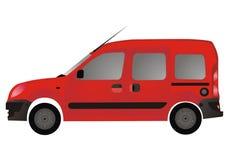 Van roja autovehicle (coche) ilustración del vector