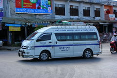 Van, route lampang and Phare province. Thailand fast transport Royalty Free Stock Photo