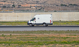 A Van On The Runway Royalty Free Stock Photo