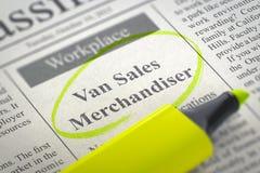 Van Sales Merchandiser Job Vacancy. 3D. Royalty Free Stock Photos